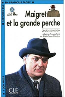 Maigret et la grande perche - Niveau 2 - Lecture CLE en Français facile + CD