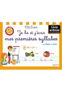 Je lis et j'écris mes premières syllabes avec Sami et Julie - Livre-ardoise