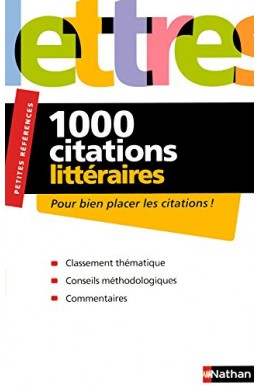 1000 CITATIONS LITTERAIRES