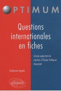 Les grandes questions internationales en fiches