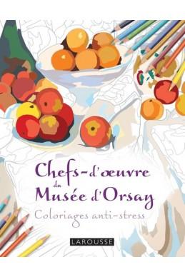 Chefs d'oeuvre du musée d'Orsay coloriages anti-stress